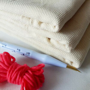 beiyoule Cross Stitch Fabric Punch Needle Needlework Fabric DIY Embroidery Knitting Monks Cloth