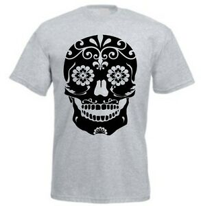 ee673054 CANDY SKULL T-SHIRT Mens Sugar Day Of The Dead Mexico Choose Colour ...