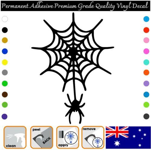 Permanent Adhesive Vinyl Decal Sticker Car//Wall//Laptop//Window SPIDERWEB etc