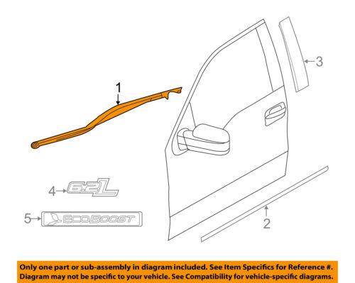 FORD OEM F-150-Door Window Sweep-Belt Molding Weatherstrip Right 6L3Z1821452A