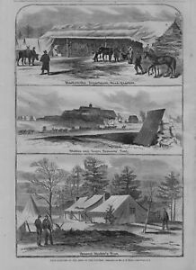 Details about CIVIL WAR ARMY OF THE POTOMAC BLACKSMITH SHOP STABLES AND  NEGRO SERVANTS TENT