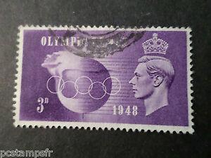 GB-GRANDE-BRETAGNE-1948-timbre-242-JEUX-OLYMPIQUES-oblitere-VF-stamp41