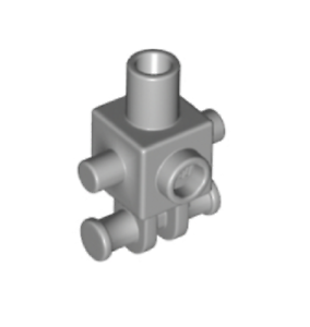 Lego ® Torse Minifig Robo Torso Med Stone Grey ref 24078 NEW