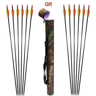 12X Archery Arrows Aluminium 500 Target for Compound Recurve Bow Hunting Outdoor