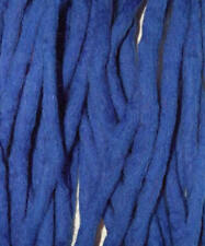 Electric Blue dreadlocks - 16 Handmade felted merino wool double ended dreads