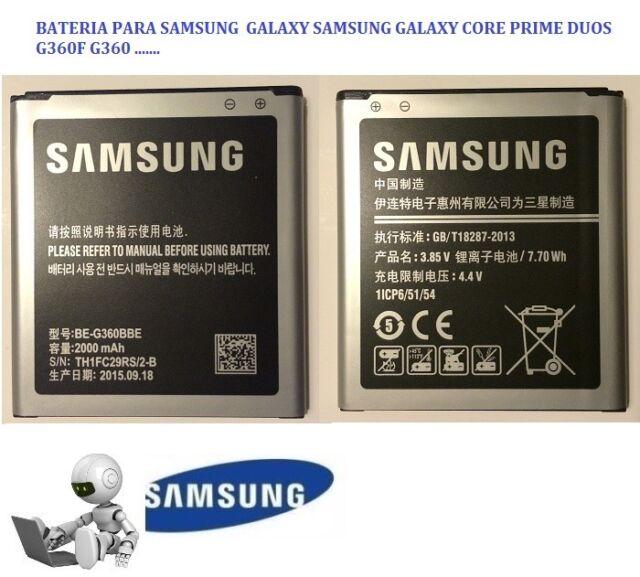 Bateria EB-BG360CBC para Samsung Galaxy Core Prime SM-G360F G3609 G361F J2 DUOS