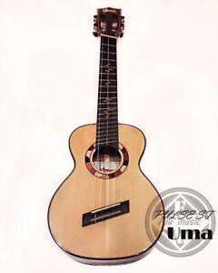 Uma PULSE ST ALL Solid Engelmann Spruce & Black Walnut Tenor ukulele Gloss