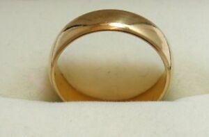 Beautiful-Vintage-Heavy-Solid-22ct-Gold-Wedding-Ring