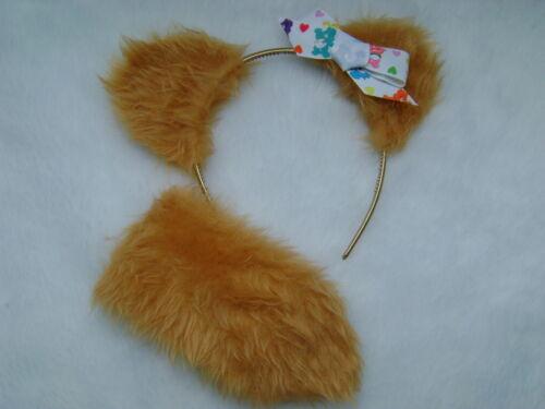 Care Bear Anniversaire Ours gold Oreilles et queue set Logo Bow robe fantaisie