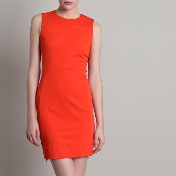 Diane Von Furstenburg Reona D6971446x13 Arancione Donna Abito Elastico Attillato