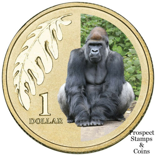 Australian Colour printed coin 2012 Animals of the Zoo Western Lowland Gorilla