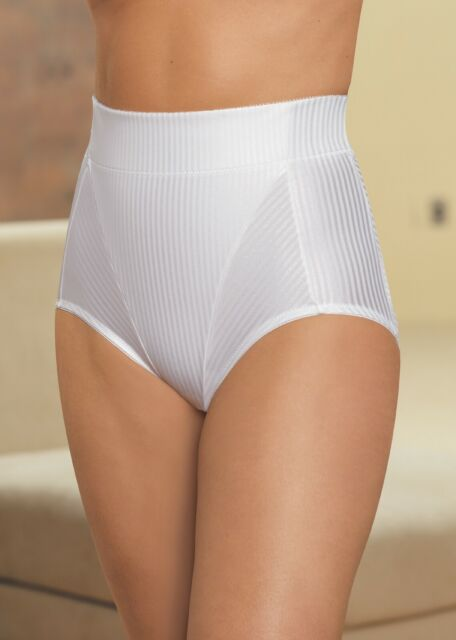 GLAMORISE High-Waist Brief 28 MEDIUM Firm Hip Tummy Control SHAPER White NEW $45