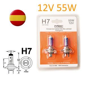 x2-Bombillas-H7-55w-12v-halogenas-luz-blanca-caja-original-PX26d