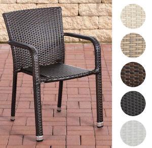 Gartenstühle rattan  Polyrattan Stuhl Leonie Stapelstuhl Gartenstuhl Rattan Gartensessel ...