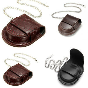 PU-Leather-Chain-Pocket-Watch-Holder-Storage-Case-Box-Pouch-Bag