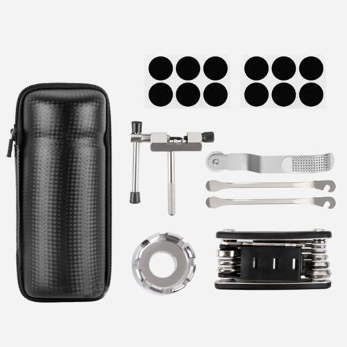 Road Bicycle Bike Tyre Repair Kit Tools Bag With Multi-function Tool Portable