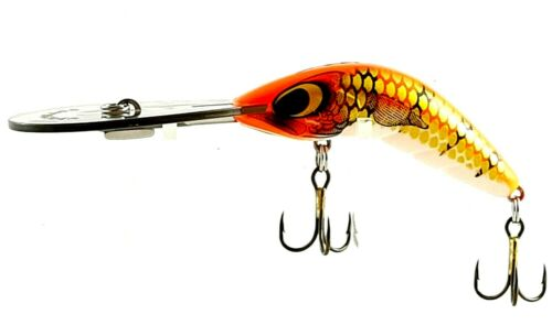65-UD-12g,CAST OR TROLL DEEP DIVER FISHING LURE PREDATEK BOOMERANG,FIREBALL RED