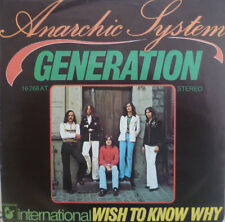 """7"""" 1975 RARE IN MINT- ! ANARCHIC SYSTEM : Generation"""