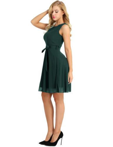 Para mujeres de gasa sin mangas Noche Fiesta Cóctel una línea formal vestido vestido de