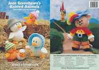 Jean Greenhowe Knitted Animals Knitting Book Double Knit Colourful Patterns