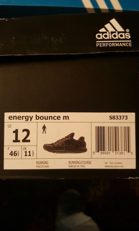 Adidas Uomo energia scarpe fammi rimbalzare, 46 di scarpe energia da corsa. sergente s83373 nero 769fae
