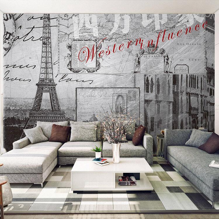 3D Handbemalt Paris-Stadt 73 Tapete Wandgemälde Tapeten Bild Familie DE