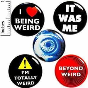 Details about Weird Buttons 5 Pack Backpack Pins Funny Weirdness Strange  Lapel Pins 1
