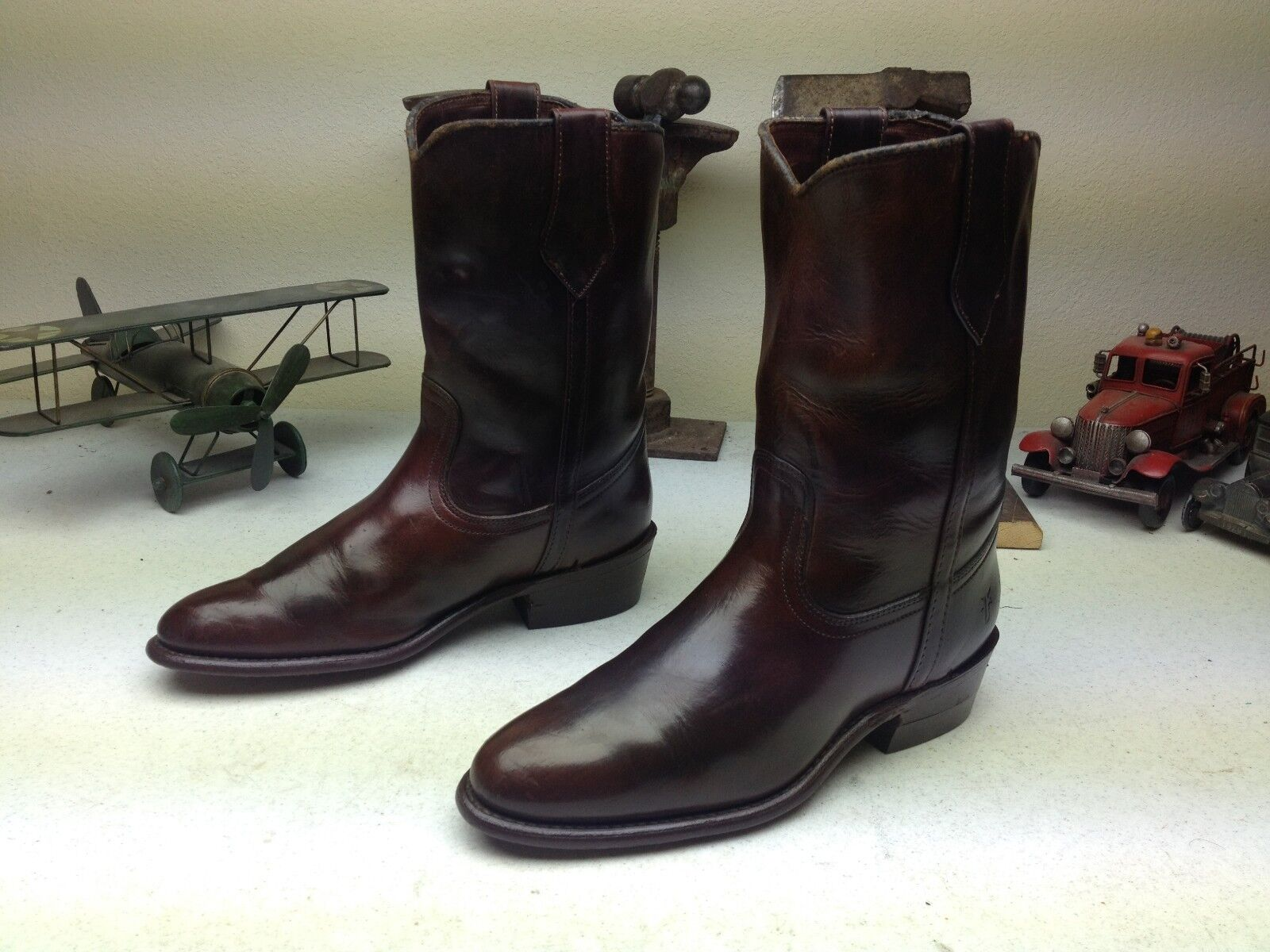 prezzi all'ingrosso VINTAGE MADE MADE MADE IN USA FRYE Marrone LEATHER ENGINEER MOTORCYCLE stivali Dimensione 8.5 D  outlet in vendita
