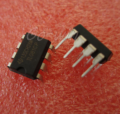 5pcs TL081 TL081CP TI IC JFET Input Operational Amplifiers DIP-8 High quality