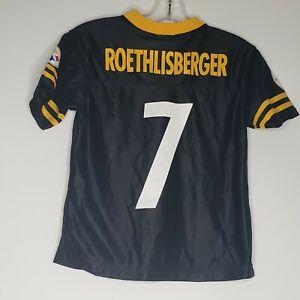 Details about Youth Boys Ben Roethlisberger Jersey Pittsburg Steelers Screenprint New Medium