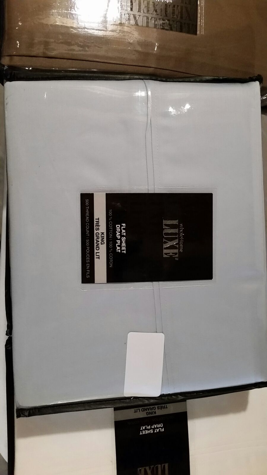 NEW King Size Flat Sheet Only - 500 Thread Count 100% Egyptian Cotton bluee Frost