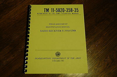 Set of 4 Manuals for Collins R-390A Receiver Op Repair Parts Maint Standards