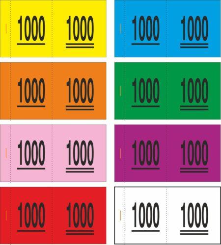 wählbar . 1000 Doppelnummern 6 F - Nr 0001 bis