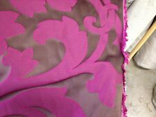 Duralee Clarke and Clarke jaquard chocolate orchid demask fabric by the yard