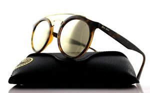 NEW RAY-BAN GATSBY I Tortoise Gold Mirror Round Sunglasses RB 4256 ... b0af601cf4