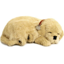NEW Perfect Petzzz Golden Retriever Breathing Puppy Dog Plush Set w/Carrier, Bed