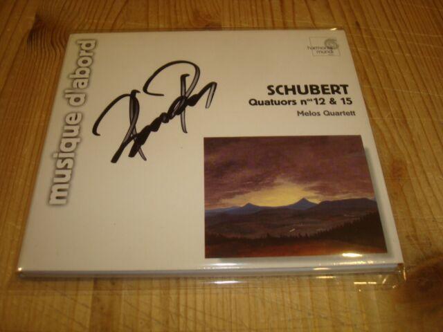 MELOS QUARTET PETER BUCK Schubert String Quartets 12 & 15 HMF CD Signed Signiert