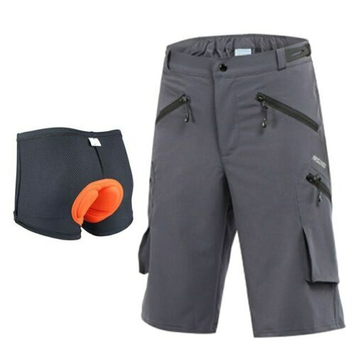 Mens Cycling MTB Bike Shorts Mountain Bike Bicycle Short Pants With Pad Short