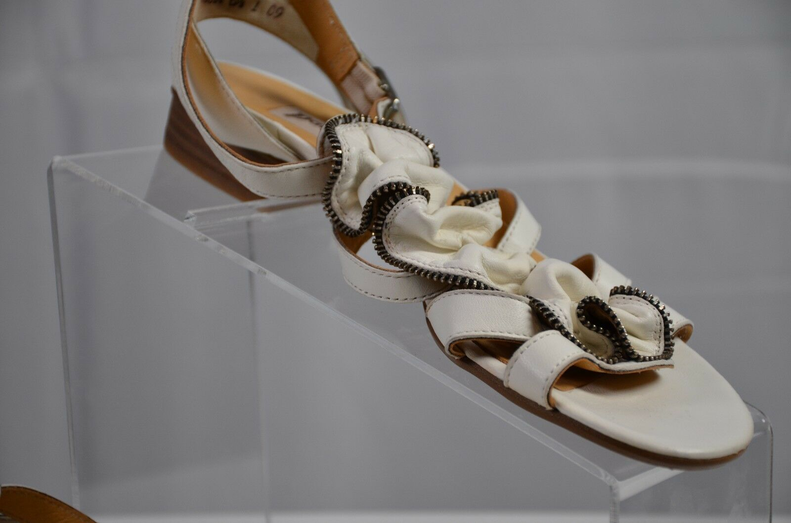 Paul Green Women's Sandals Size Size Size 6.5 Munchen White Steampunk Strappy Cute 9 US 23a0f3