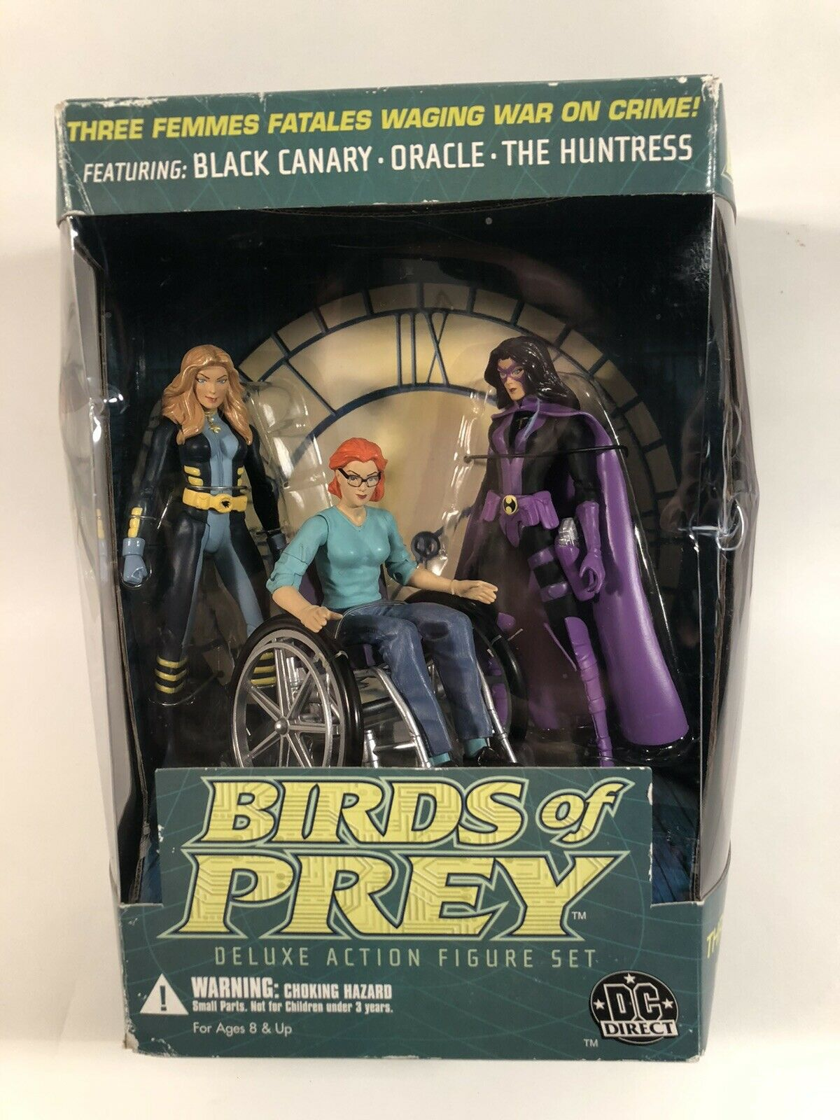 """DC DIRECT BIRDS OF PREY 6"""" DELUXE FIGURE SET BLACK CANARY ORACLE HUNTRESS 3 PACK"""