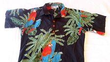 Vintage 80s OP Ocean Pacific Shirt Men Sz Small Black Hawaiian Surf Skate Buffet