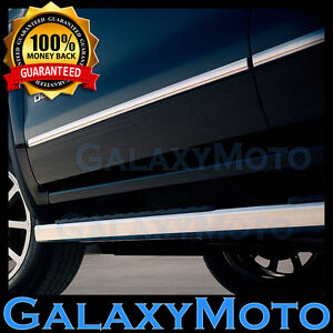 07-13 GMC Sierra 1500 Crew Cab 4 Door Chrome Body Side Molding Front+Rear 4pcs