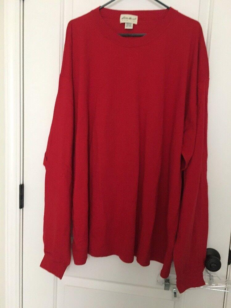 Eddie Bauer Since 1920 Men's T-Shirt Top Sz XXXL Red Long Sleeve Shirt Clothes L