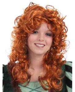 Disney Brave Princess Womens Red Merida Pixar Auburn Wig Movie Forest wq04vv