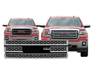 Chrome-Grille-Overlay-Compatible-with-2014-2015-GMC-Sierra-1500-BASE-SLT-SLE