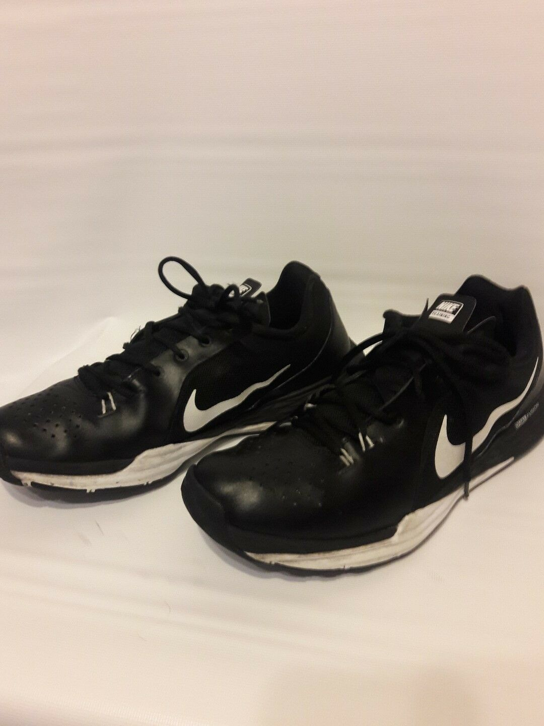 MENS.NIKE  DUAL FUSION.BLACK LEATHER .RUNING  SHOES SIZE 11  Great discount