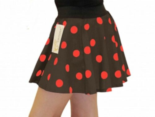 GIRLS AGES 5-10 YEARS 1950/'S STYLE POLKA DOT GREASE SKIRT FANCY DRESS TUTU PARTY