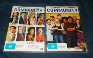COMMUNITY-SEASON-1-amp-2-DVD-SETS-REGION-4-VGC-CHEVY-CHASE
