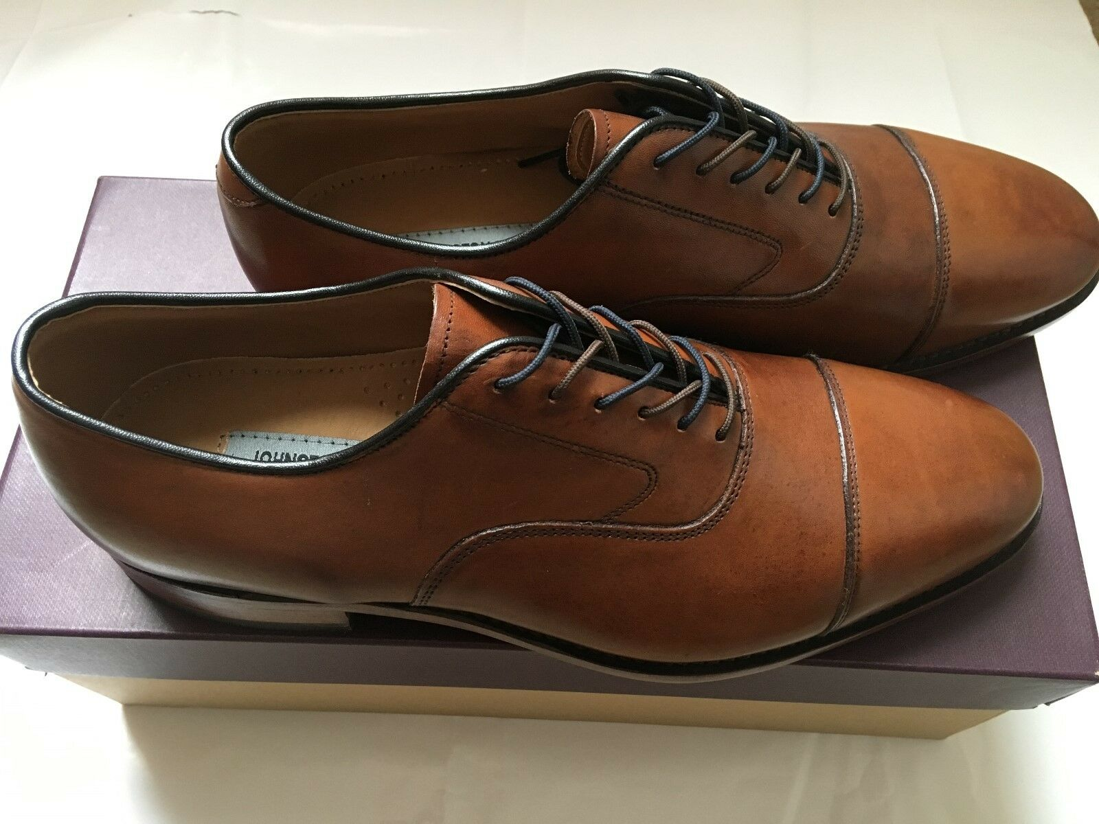 JohnstonΜrphy, Melton, tan, size 12D, pelle, genuine pelle, 12D, new in box 282a91