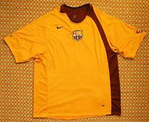 timeless design 1a4d8 7b006 Details about FC Barcelona, Vintage Orange Training Football Shirt by Nike,  Mens XL